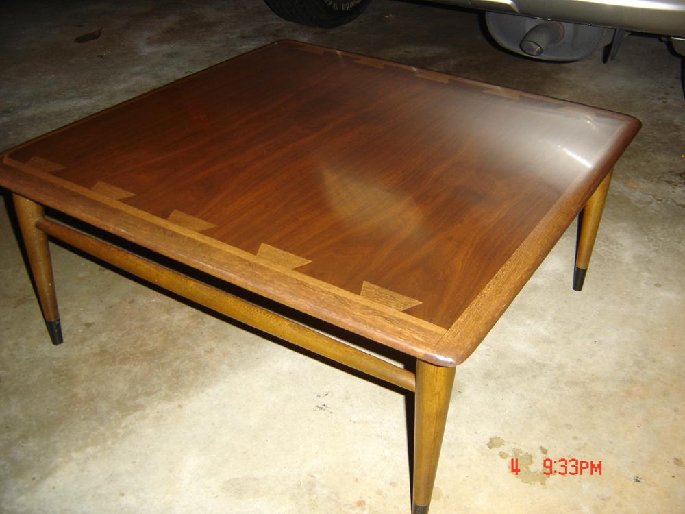 Modern Woodworking Refinishing a Classic Lane Acclaim Coffee Table