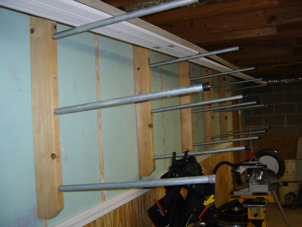 Lumber Storage Rack Wall Mounted